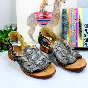 Anthro Latigo low heel open toe huarache sandal